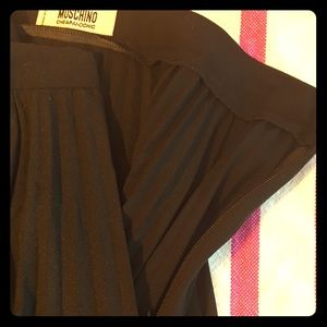 Moschino Classic Black Pleated Skirt Size 8